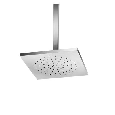 WS Bath Collections Supioni Square Ceiling Mount Self-Cleaning Rain Shower Head