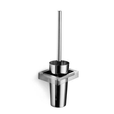 "WS Bath Collections Skuara 16.1"" Toilet Brush Holder in Stainless Steel"