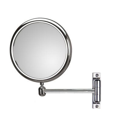 "WS Bath Collections Mirror Pure 9.1"" H x 9.1"" W Doppiolo Magnifying Cosmetic Mirror"