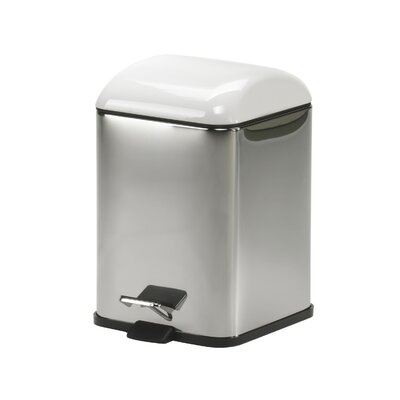 WS Bath Collections Karta Waste Basket with Foot Pedal