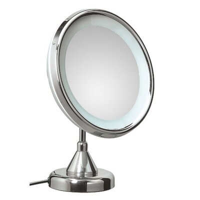 WS Bath Collections Lucciolo Free Standing Magnifying Cosmetic Mirror with Lighting