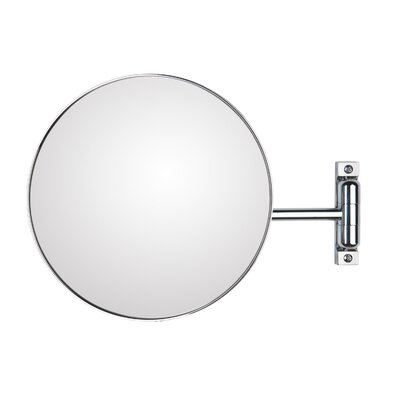"WS Bath Collections Mirror Pure 9.1"" H x 9.1"" W Discololed Magnifying Cosmetic Mirror"