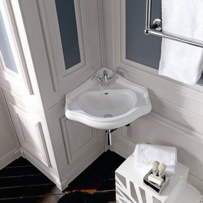WS Bath Collections Kerasan Retro Wall Mounted Bathroom Corner Sink