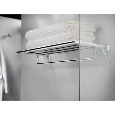 WS Bath Collections Kubic Class Towel Rack