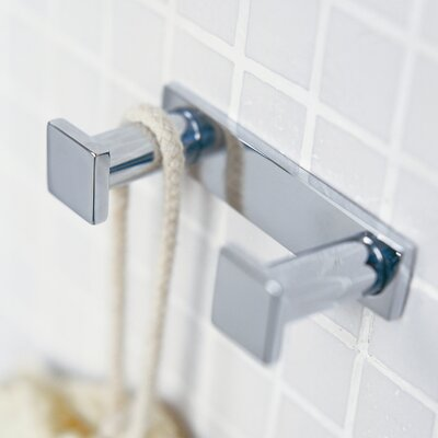 "WS Bath Collections Metric 3.1"" x 1.6"" Double Hook"