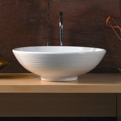 WS Bath Collections Ceramica Vessel Sink in White - LVO 500 | Wayfair