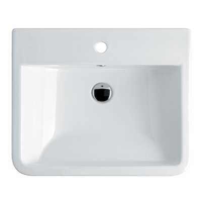 WS Bath Collections Ceramica Valdama Chiante Wall Mounted / Vessel Bathroom Sink