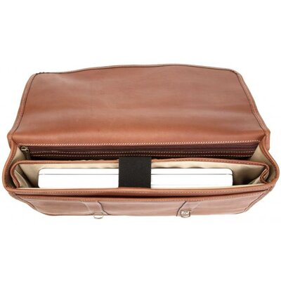 Korchmar Adventure Litigator Flap Briefcase in Brown