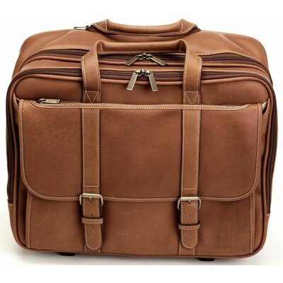 Adventure Deluxe Overnighter Leather Laptop Briefcase