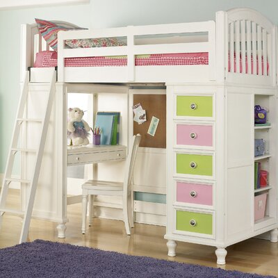 Canwood Furniture Whistler Junior Twin Low Loft Bed with Built-In ...