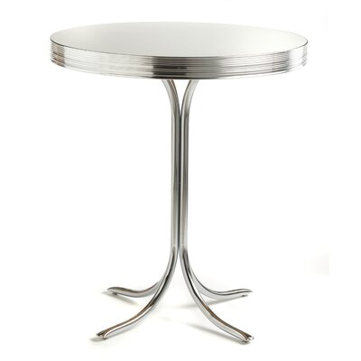 Classic Retro Dinettes Retro 3 Piece Pub Set in Bright Chrome