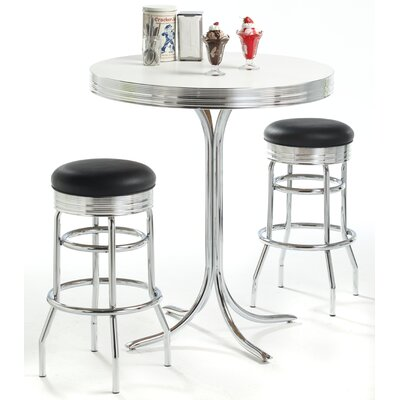 Classic Retro Dinettes Retro Adjustable Pub Table with Optional Stools