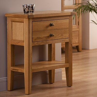 World Furniture Provence Two Drawer Console Table in Oak