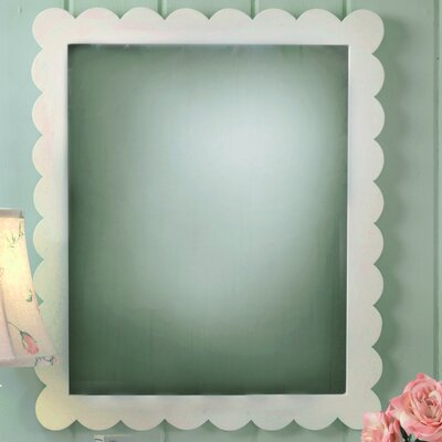 Scalloped Framed Mirror in White