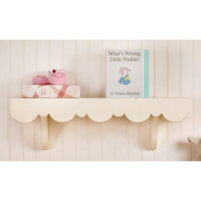 Scalloped Cottage Wall Shelf