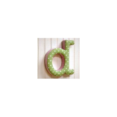 "New Arrivals ""d"" Fabric Letter in Pink / Green"