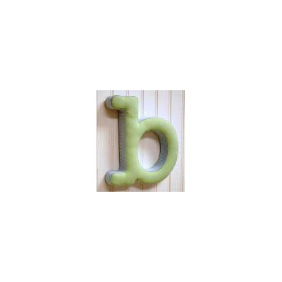 "New Arrivals ""b"" Fabric Letter in Blue / Green"
