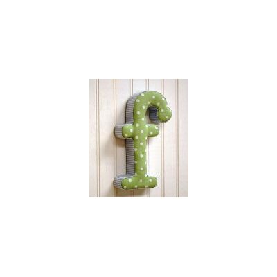 "New Arrivals ""f"" Fabric Letter in Blue / Green"