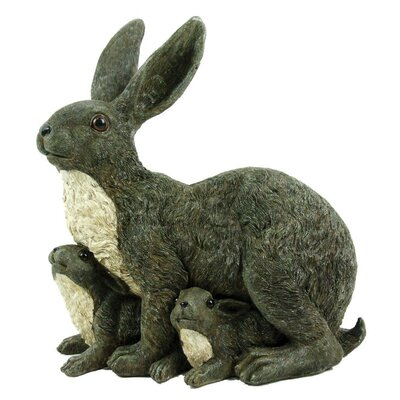 Mama Rabbit and Family Statue