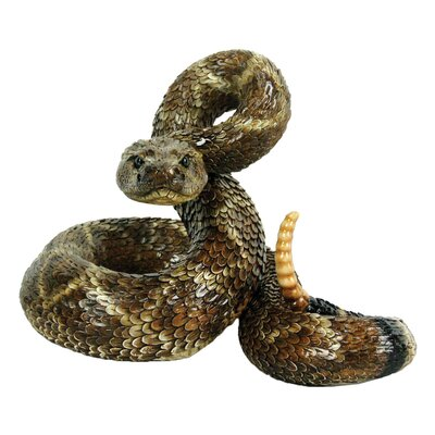 Western Diamond Back Coiled Snake Statue