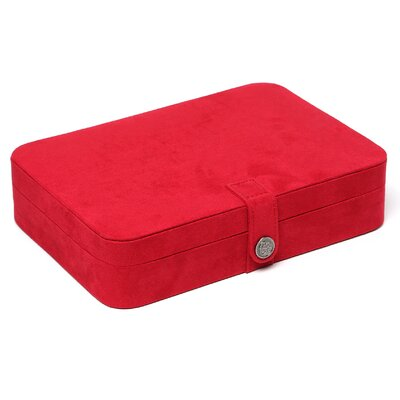 Mele & Co. Renee Sectioned Sueded Jewelry Box in Red