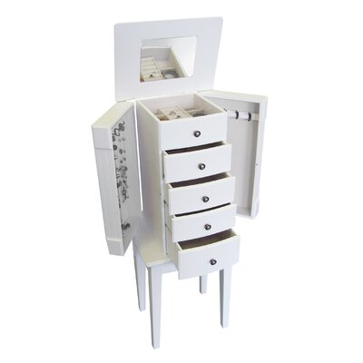 Mele Vanna Jewelry Armoire in White