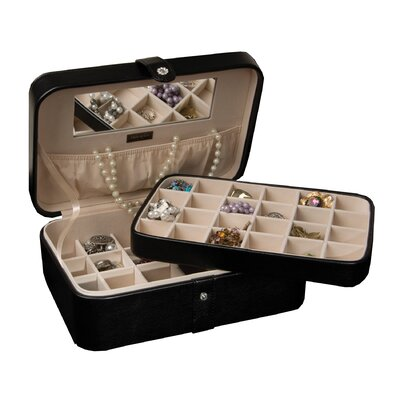 Remy Forty Five Section Jewelry Box in Black