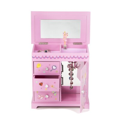 Krista Girl's Musical Ballerina Jewelry Box with Fashion Paper Overlay