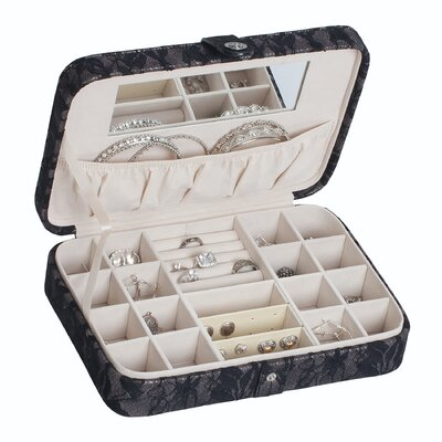 Mele & Co. Desiree Metallic Fabric Jewelry Box