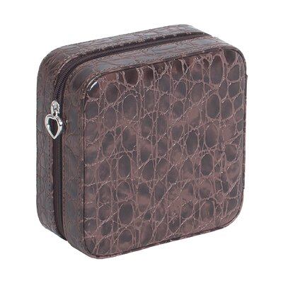 Josette Croco Faux Leather Travel Jewelry Case