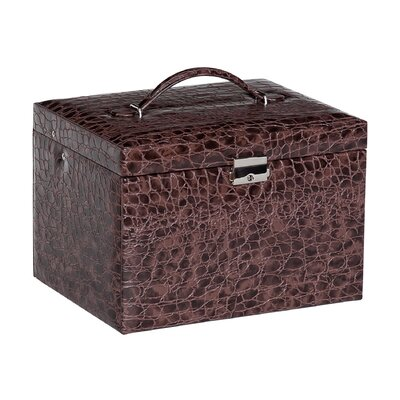 Dahlia Drop Front Locking Jewelry Box