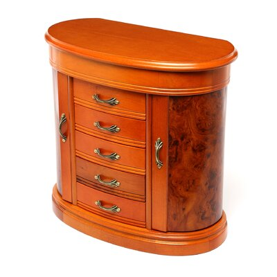 Trinity Jewelry Box in Burlwood Oak
