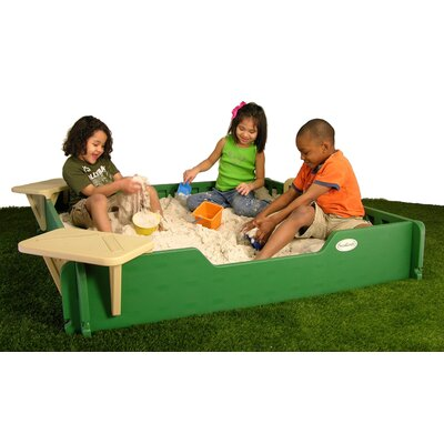 Sandlock Sandboxes Square Sandbox with Cover