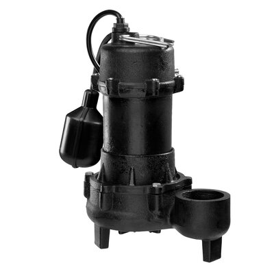 WAYNE 1/3 HP Tether Float Switch Cast-Iron Submersible Effluent Pump
