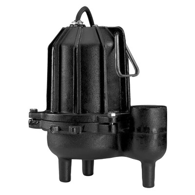 WAYNE 3/4 HP Manual Operation Cast-Iron Heavy Duty Sewage Pump