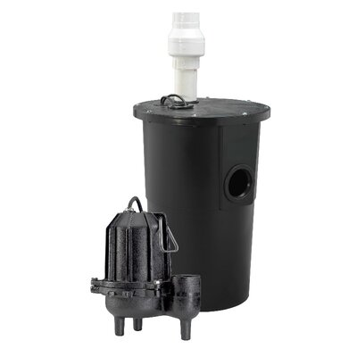 WAYNE 6/10 HP Tether Float Cast-Iron Sewage Packaged System