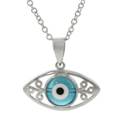 "Skyline Silver Sterling Silver ""Blue Eye"" Necklace"