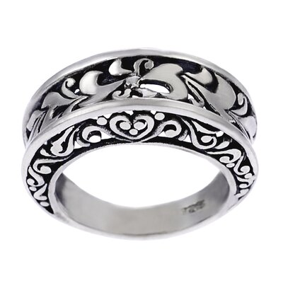 Skyline Silver Sterling Silver Concave Filigree Ring
