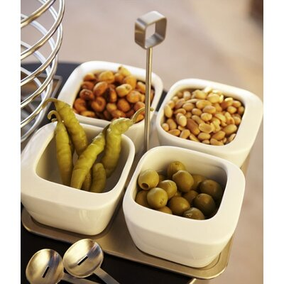 Blomus Enza Five Piece Dip Bowl Set with Tray
