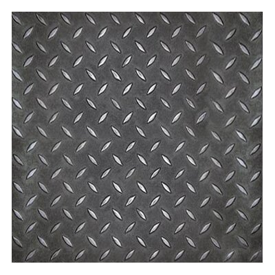 "Metroflor Metro Design Textured Metallic Tile 18"" x 18"" Vinyl Tile in Black"
