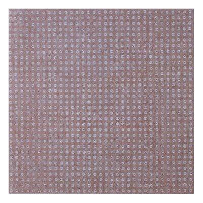 "Metroflor Metro Design Metal 18"" x 18"" Vinyl Tile in Gold Rivet"