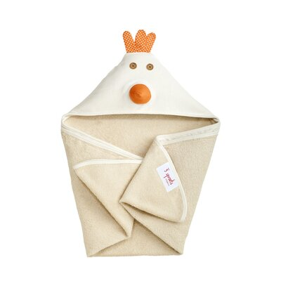 3 Sprouts Cream Chicken Hooded Towel