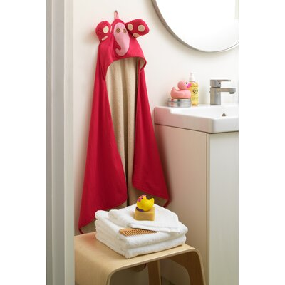 3 Sprouts Pink Elephant Hooded Towel