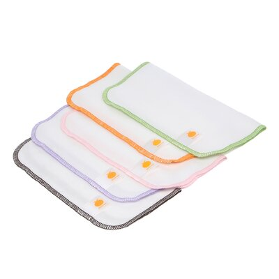 Satsuma Designs LLC Organic Flannel Wash Cloths/Wipes (Set of 5)