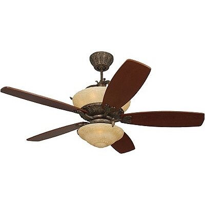 Monte Carlo Fan Company Royal Danube 5 Blade Fan with Wall Remote
