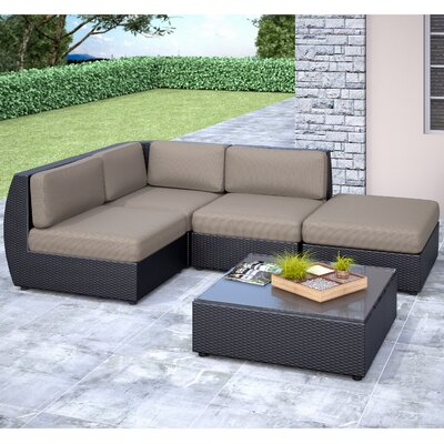 dCOR design Seattle Patio Ottoman with Cushion
