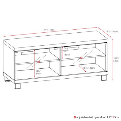 "dCOR design Holland 44"" TV Stand"