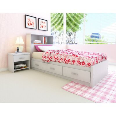 dCOR design Willow Storage Bed & Bookcase Headboard