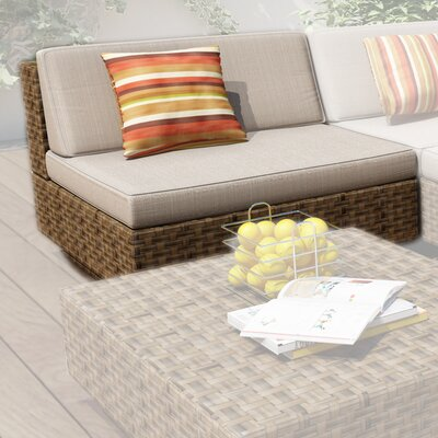 dCOR design Park Terrace Deep Seating Armless Middle Chair with Cushions