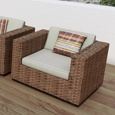 dCOR design Park Terrace Deep Seating Chair with Cushions